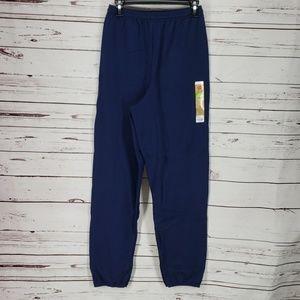 Hanes Men's Cinch Leg Blue Sweatpants